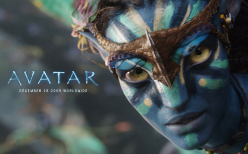 Avatar, James Camerons Avatar, close up of Neytiri