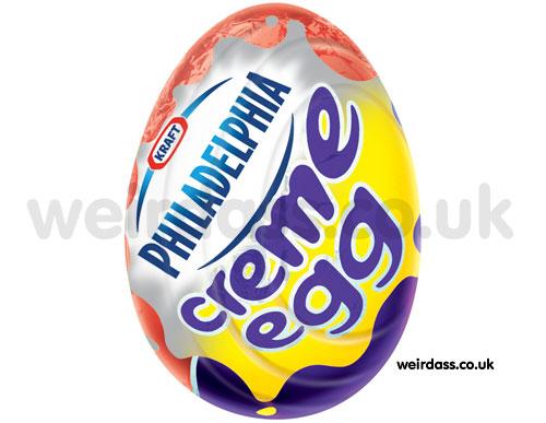 philadelphia creme egg - cadbury creme egg