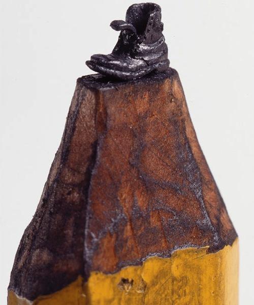 DALTON GHETTI pencil lead sculptures - boot
