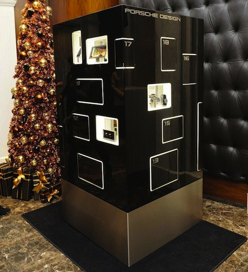 Porsche Design £600,000 Advent Calendar standing in Harrods