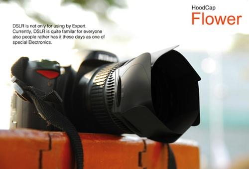 HoodCap Flower DSLR lens cap