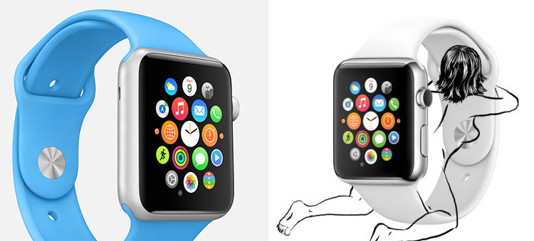 Apple Watch and drawing of woman pleasuring it… yep! Erotic fiction?