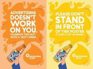 Advertising doesn't work. Please don't stand in front